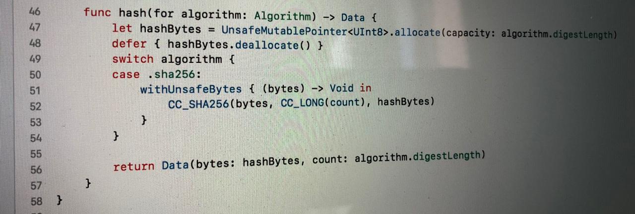 Hashing data using CommonCrypto and SHA256 – Augmented Code