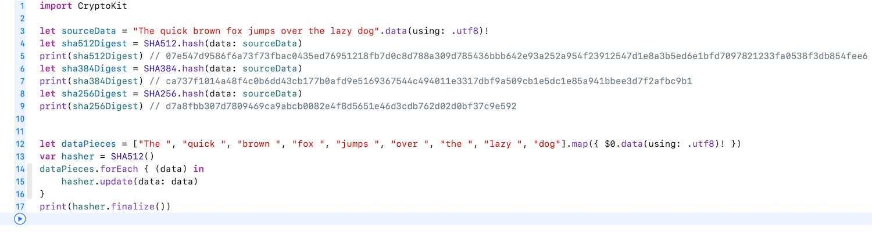 Hashing data using CryptoKit – Augmented Code